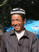 An Uighur (striking example)